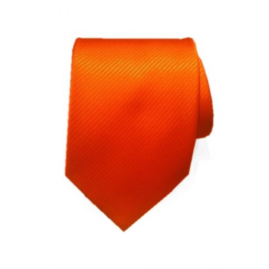 Oranje stropdas 100% polyester