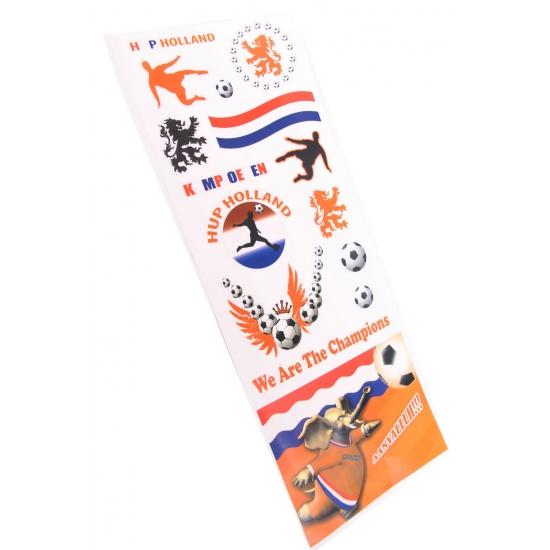 Oranje supporters raamstickers vellen 20 x 55 cm