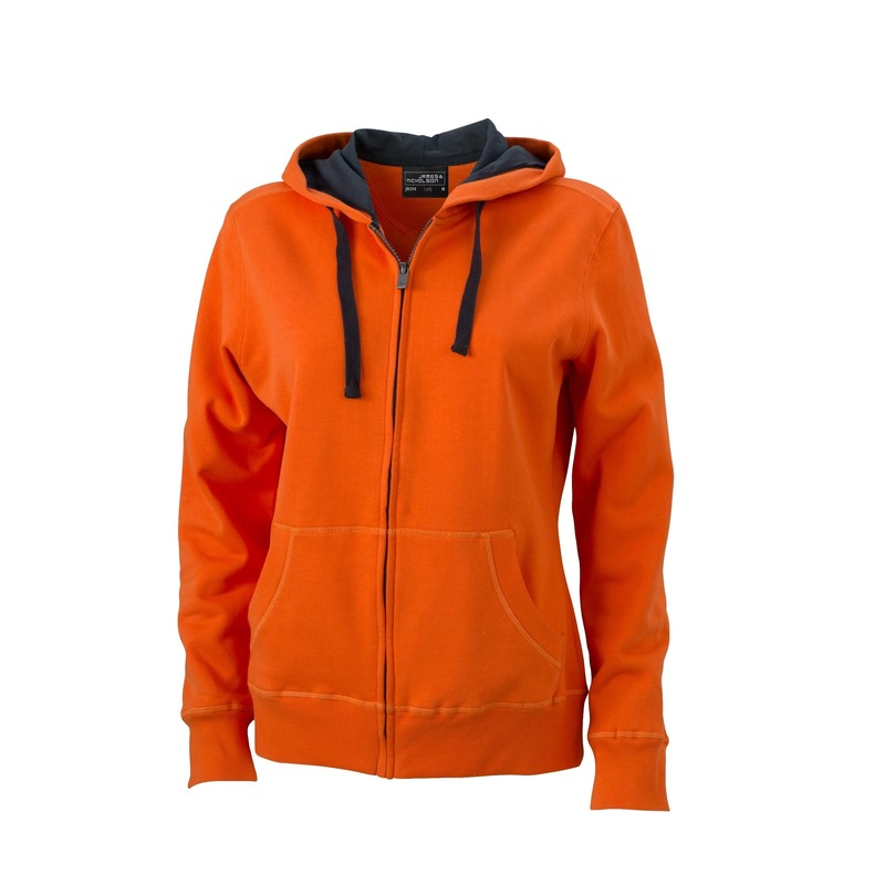 Oranje sweatvest voor dames