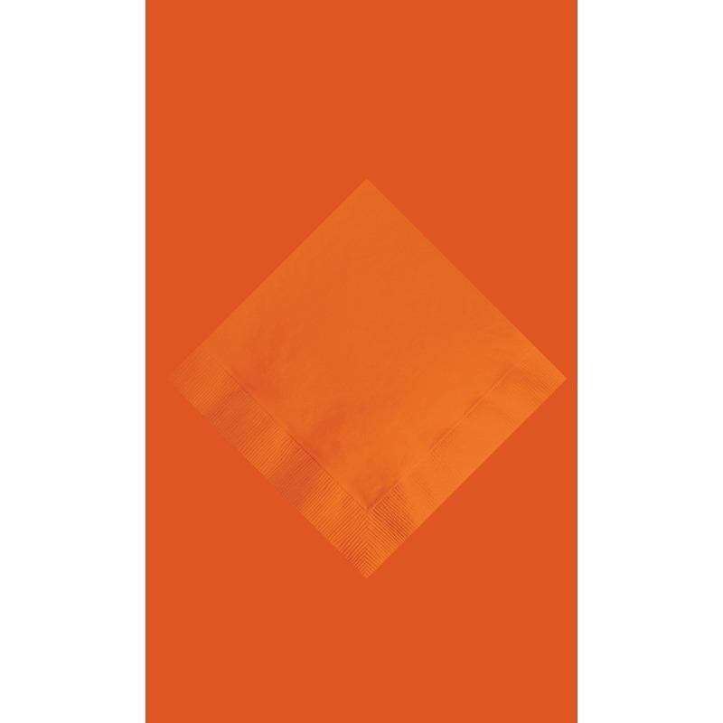Oranje tafeldecoratie set tafelkleed en 20 servetten
