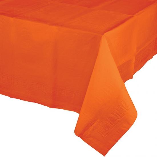 Oranje tafelkleed van papier