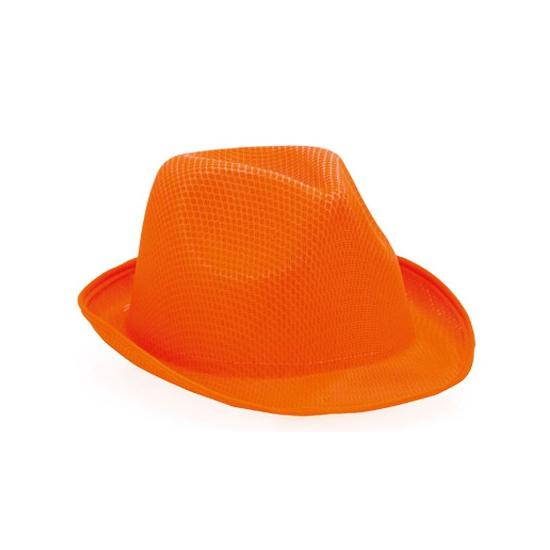 Oranje trilby hoedje voor volwassenen