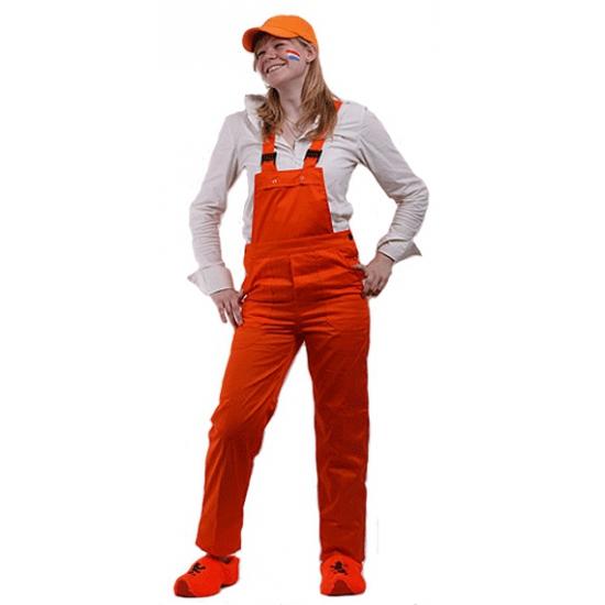 Oranje tuinbroek voor kinderen