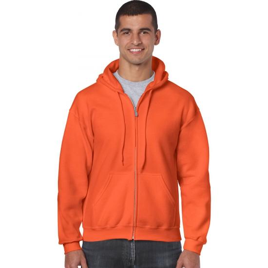 Oranje vest met capuchon voor heren