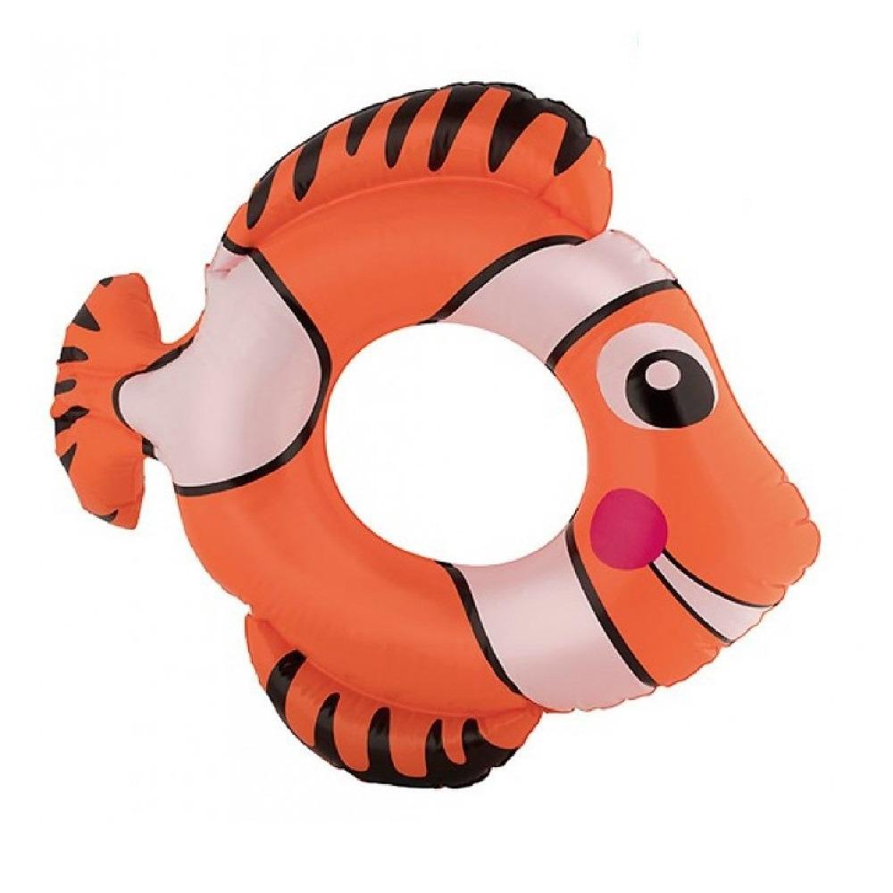 Oranje vis zwemband 79 cm