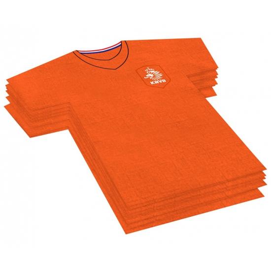 Oranje voetbalshirt servetten KNVB