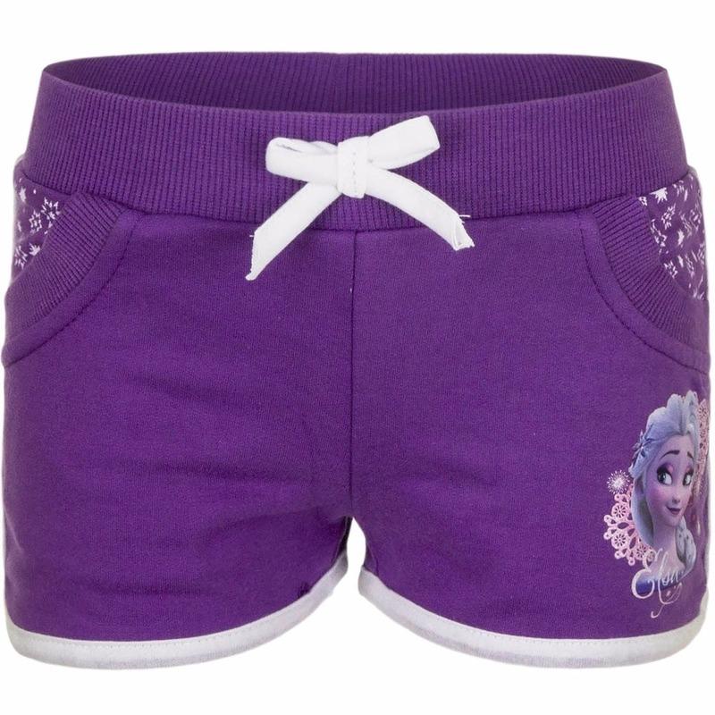 Paarse Frozen meisjes shorts