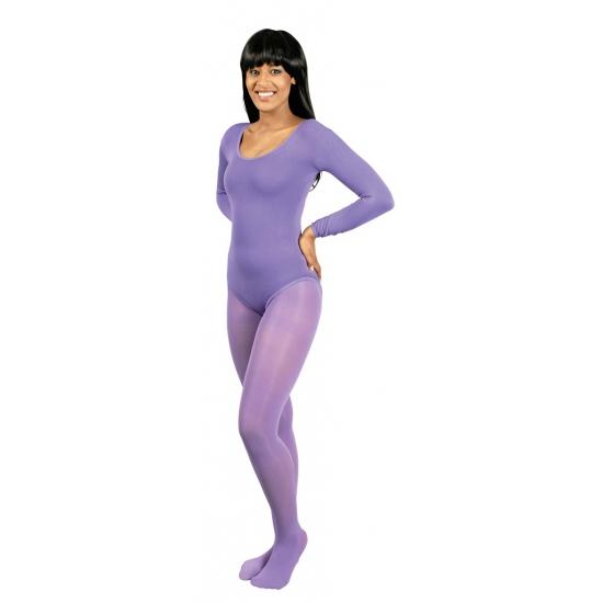 Paarse verkleed panty voor dames