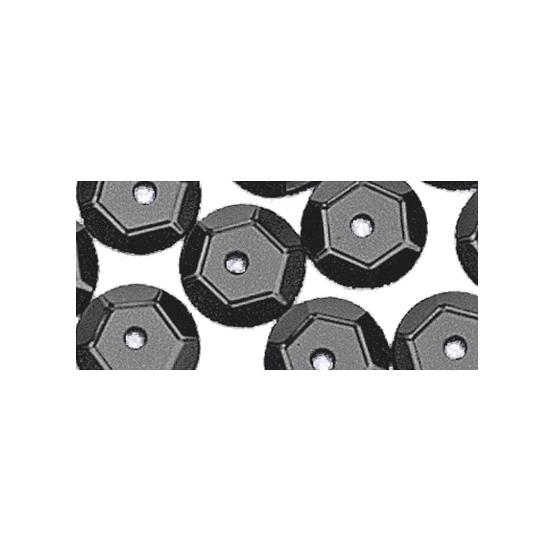 Pailletten zwart 6 mm 500 stuks