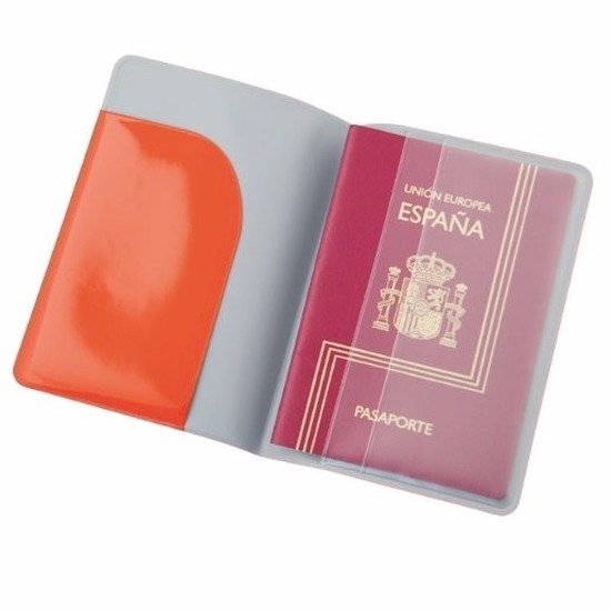 Paspoort houder rood 13 cm