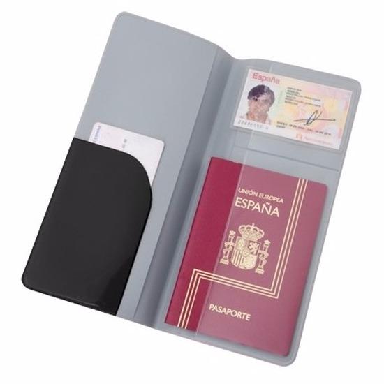 Paspoort houder zwart 22 cm