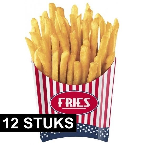 Patat bakjes USA 12x stuks