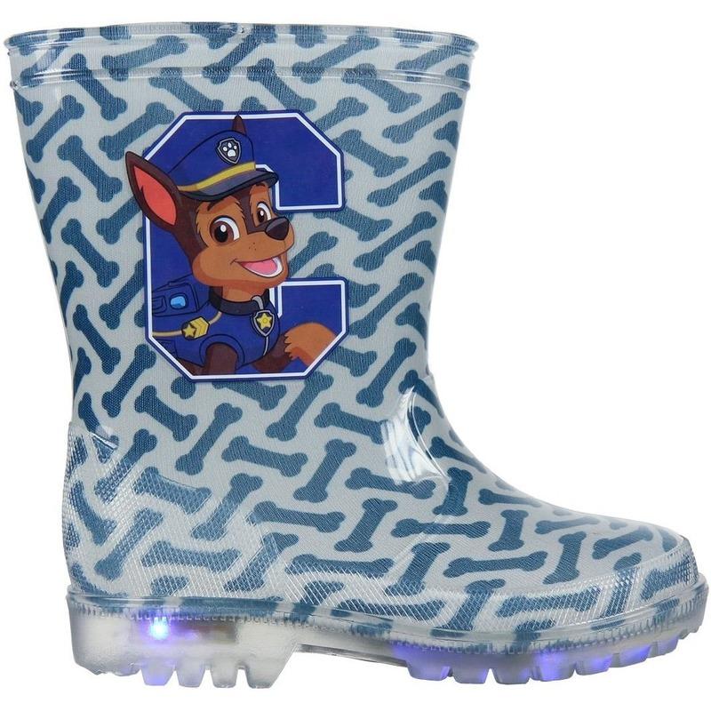 Paw Patrol Chase regenlaarzen blauw met LED voor jongens