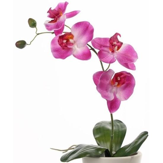 Phalaenopsis kunstplant roze 44 cm