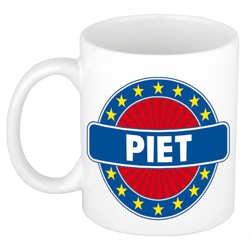 Piet naam koffie mok / beker 300 ml
