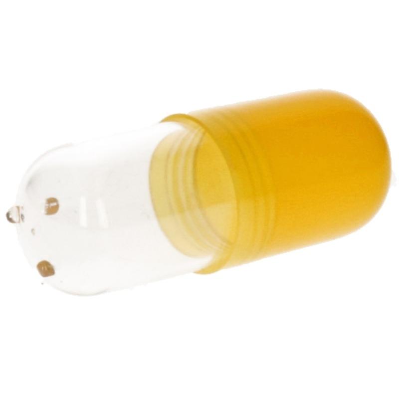 Pillendoos bewaardoos 12 cm pil geel