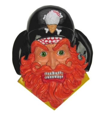 Piraat Met Baard Decoratie 36 X 45 Cm