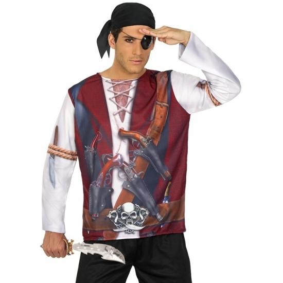 Piraat verkleed shirt voor heren