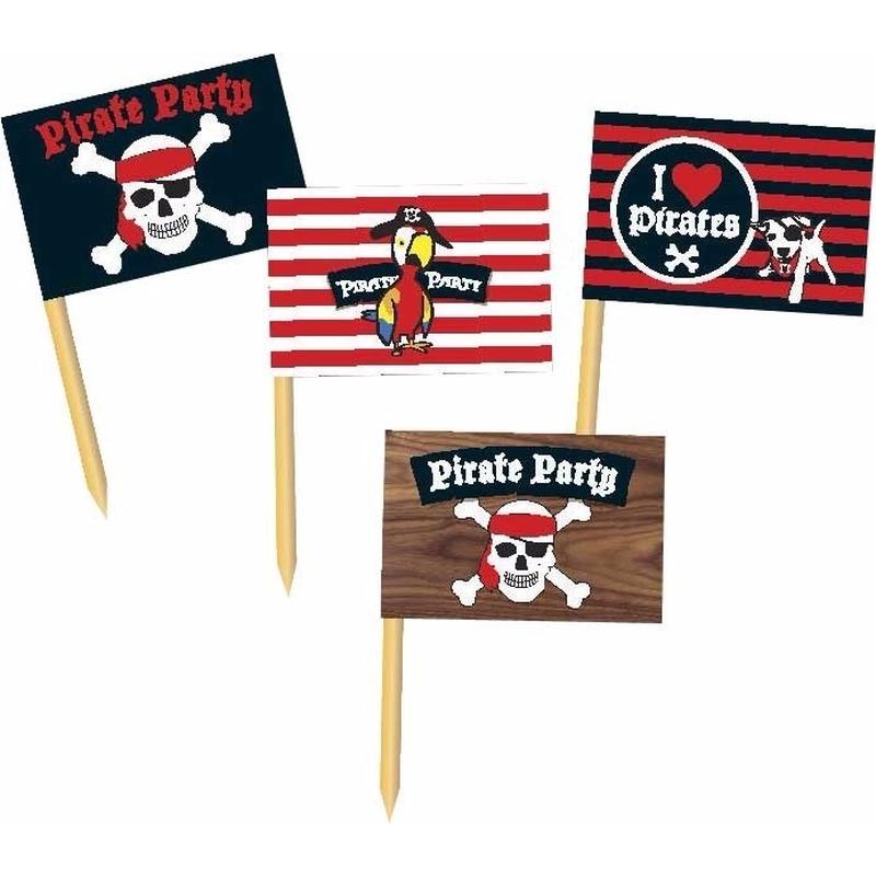 Piraten prikkertjes Pirate Party 36 stuks