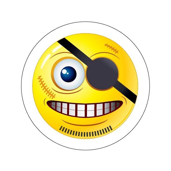 Piraten Smiley sticker type 8