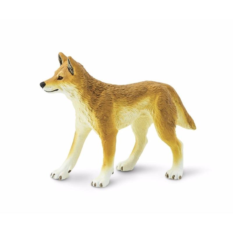 Plastic dingo wilde hond 10 cm