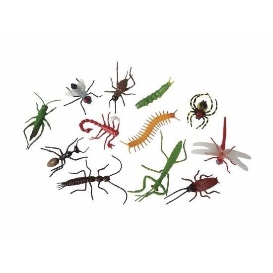 Plastic enge halloween beestjes insecten 12 stuks
