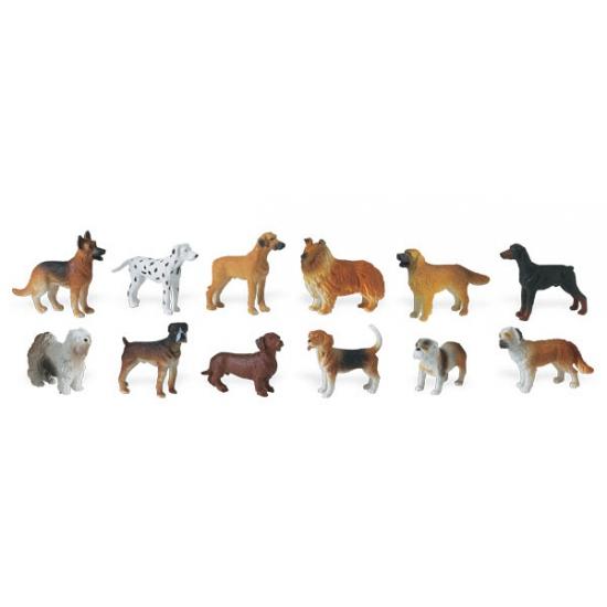 Plastic honden 11 stuks