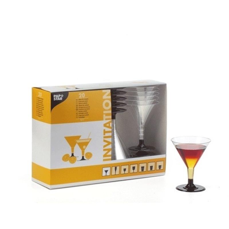 Plastic kleine cocktail glazen 40 stuks