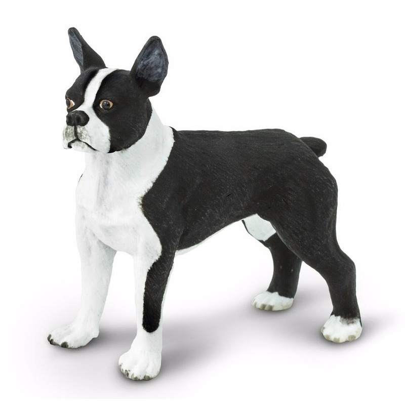 Plastic speelgoed figuur Bostonterrier hond 5 cm
