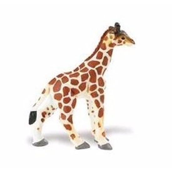 Plastic speelgoed figuur Somalische giraffe kalf 7 cm