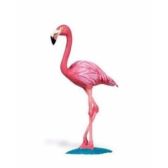 Plastic speelgoed figuur speelgoed figuur flamingo 8 cm
