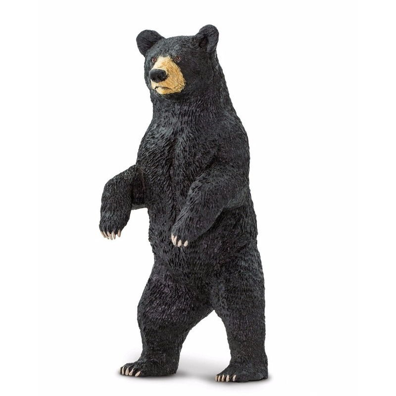 Plastic speelgoed figuur zwarte beer 10 cm