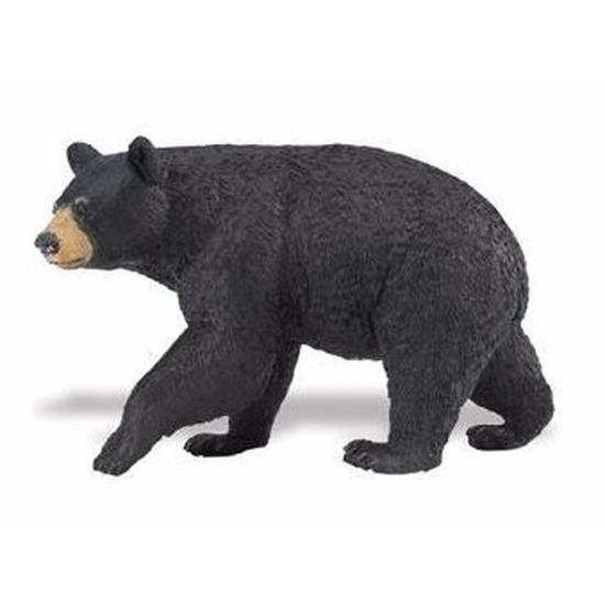 Plastic speelgoed figuur zwarte beer 11 cm