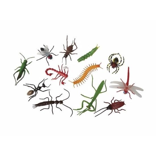 Plastic speelgoed insecten 12 stuks