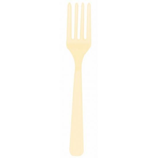 Plastic vorken creme 10 stuks