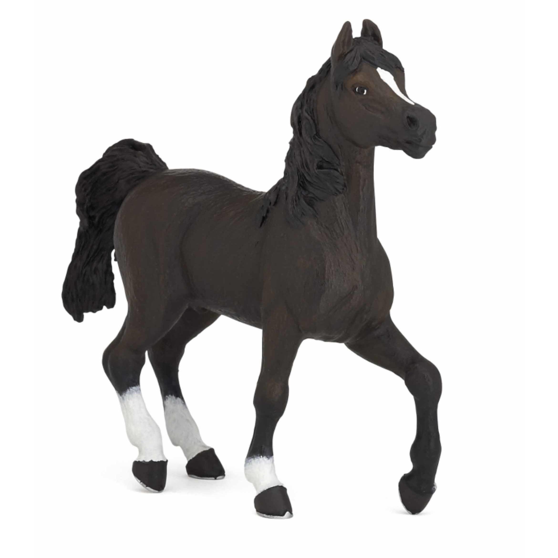 Plastic zwart Arabieren paard 13 cm
