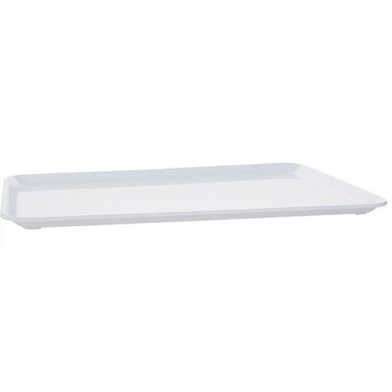 Plat dienblad wit kunststof 35 x 24 cm