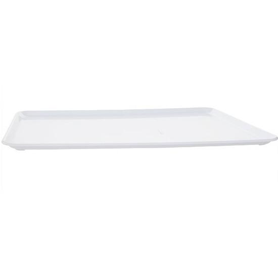 Plat dienblad wit kunststof 42 x 30 cm
