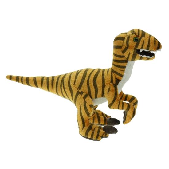 Pluche dino velociraptor knuffel 32 cm