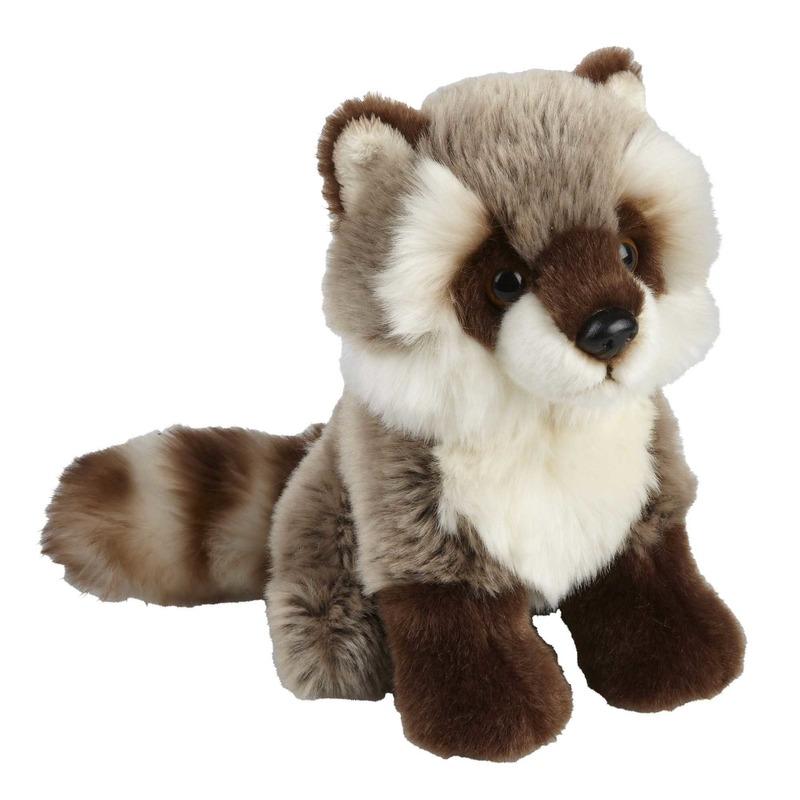 43c78e3483b0e7 Pluche grijze wasbeer/wasberen knuffel 18 cm s € 12.95. Bij:  feestartikelen-winkel.nl