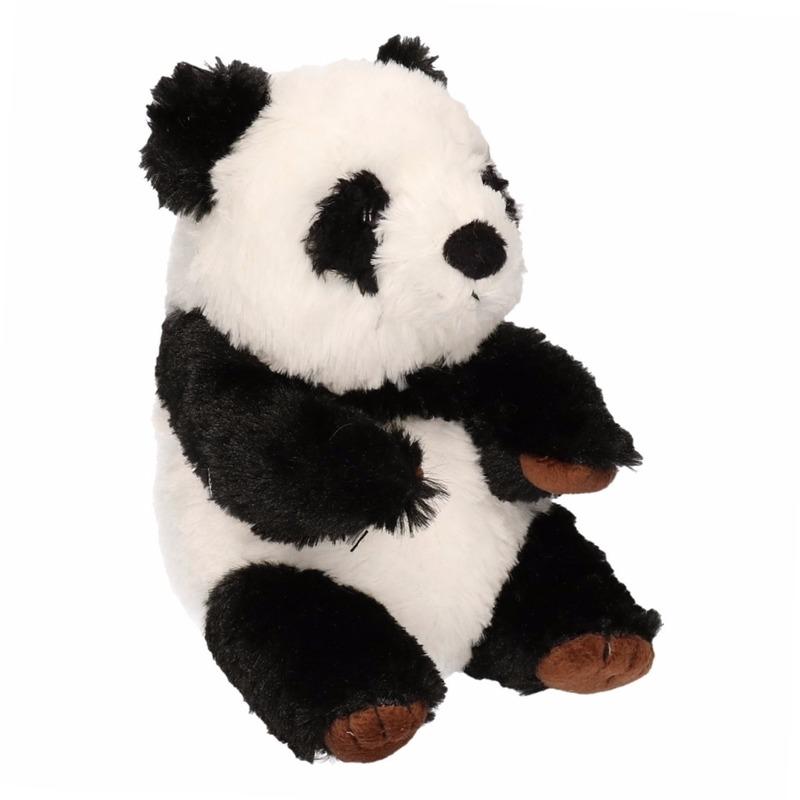 Pluche Knuffel Panda Zittend 19 Cm
