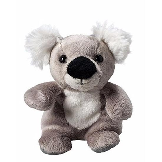 Pluche koala knuffel 11 cm met beschrijfbaar label