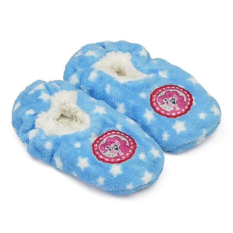 Pluche My Little Pony pantoffels/sloffen blauw voor meisjes