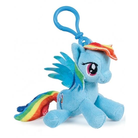 Pluche My Little Pony Rainbow Dash sleutelhanger 12 cm