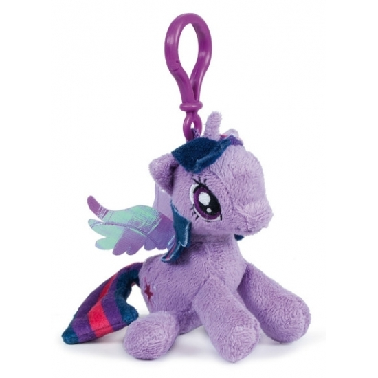 Pluche My Little Pony Twilight Sparkle sleutelhanger 12 cm