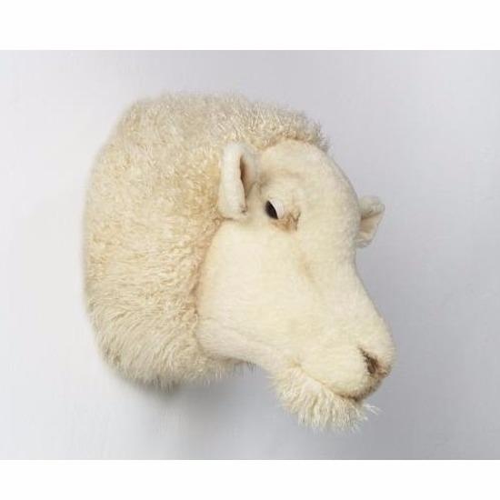 Pluche schapenkop wit
