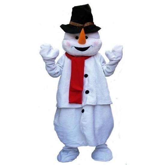 Pluche sneeuwpop kostuum