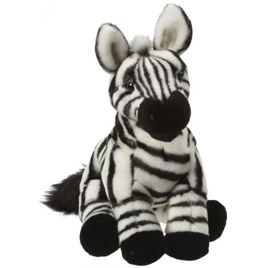 Pluche zebra knuffel van 27 cm