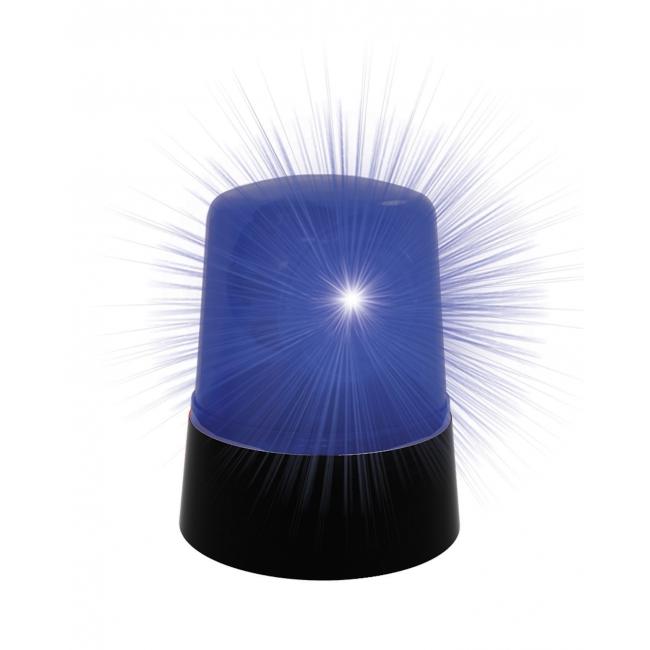 Politie zwaailamp blauw 10 cm op batterijen