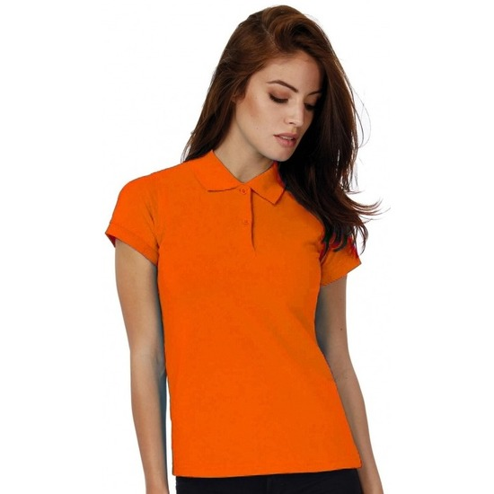 Polo shirt oranje voor dames